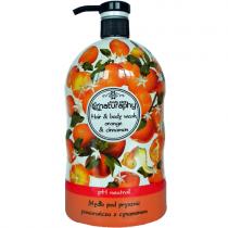 Naturaphy - Sampon si gel de dus 2 in 1 cu aroma de portocale si scortisoara, Blue Diamond